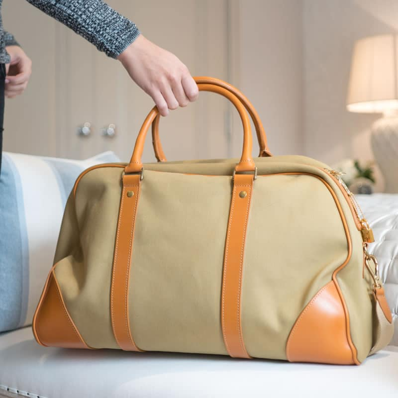 Mountbatten holdall for spring wardrobe essentials 2018