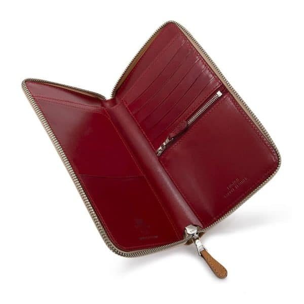 The Whitehouse Cox zip round travel wallet - the perfect accessory for the discerning luxury traveller