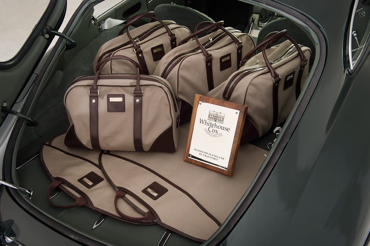 Whitehouse Cox partners with New Forest Classic Cars to produce handcrafted E-Type Luggage