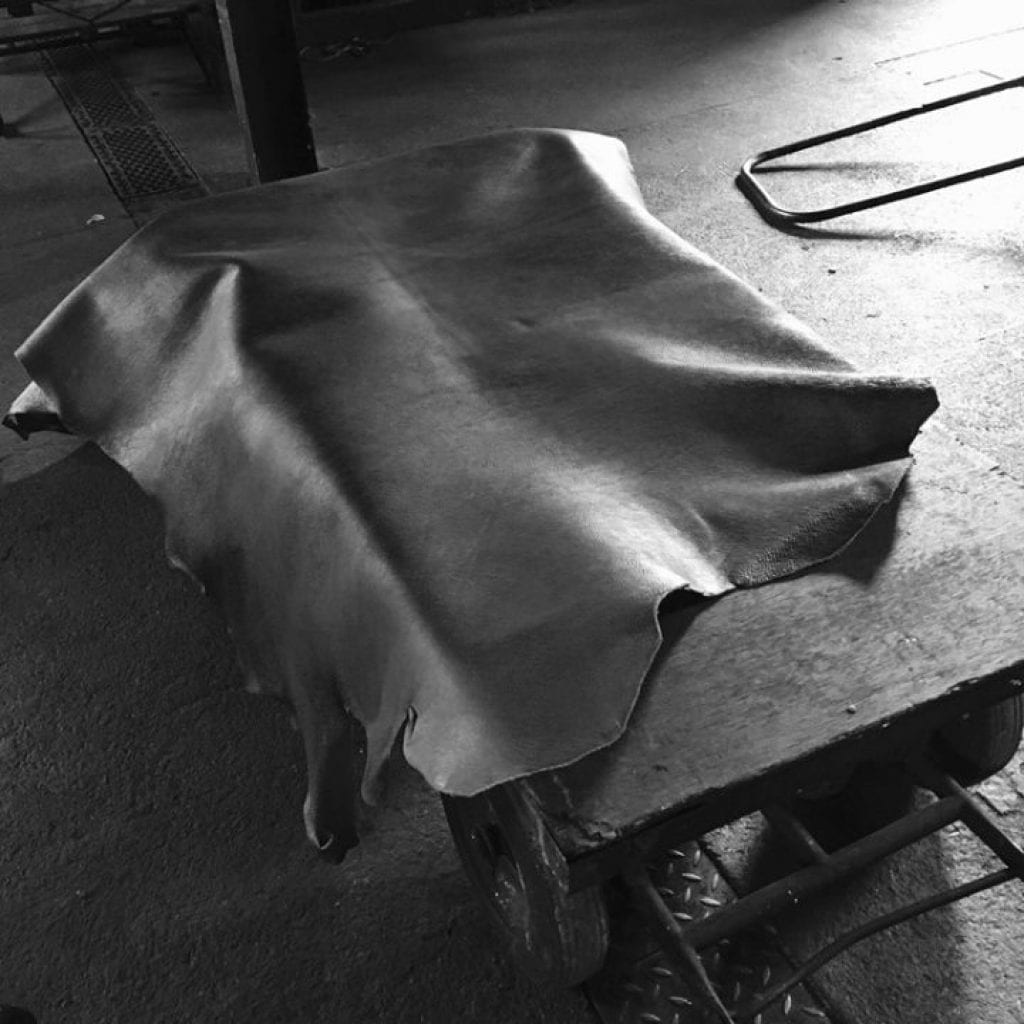 Natural leather made by hand in England