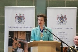 HRH Princess Anne visiting Walsall and Whitehouse Cox