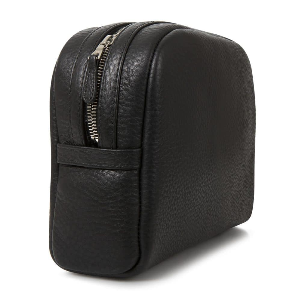 black wash bag from Whitehouse cox travel essentials