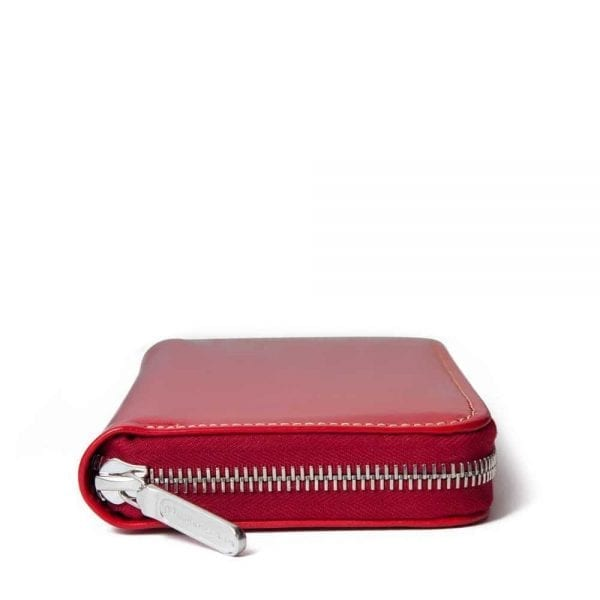 Whitehouse Cox purse in red leather handmade in england